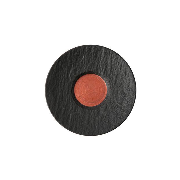 Manufacture Rock Glow sous-tasse à café, cuivre/noire, 15,5x15,5x2cm, , large