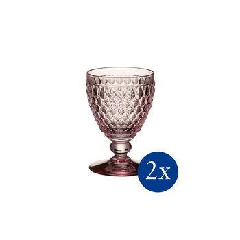 Boston coloured Verre à vin blanc rose Set 2 pcs