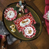 Toy's Fantasy petite coupe motif ouverture des cadeaux, rouge/multicolore, 16,5x16,5x3cm, , large