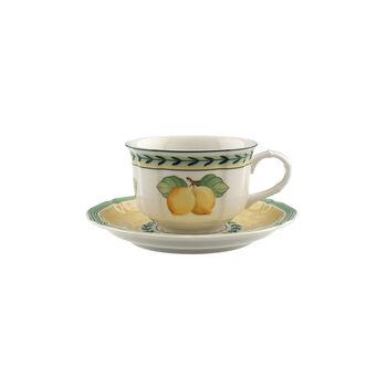 French Garden Fleurence tasse à thé avec sous-tasse 2pièces