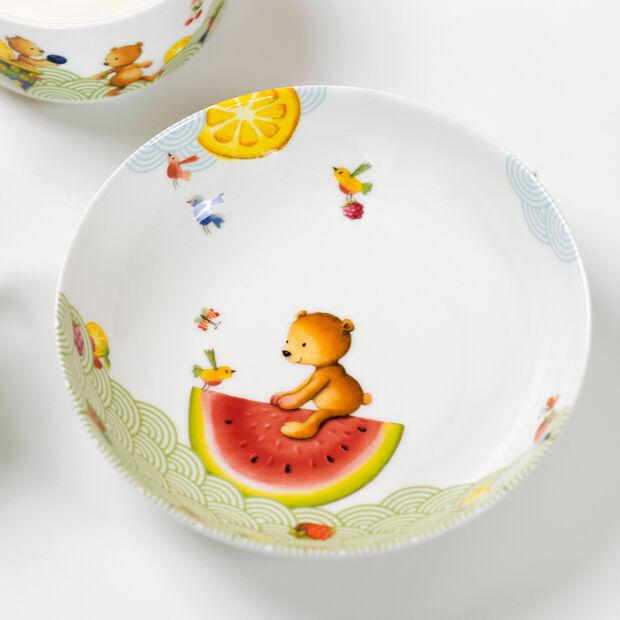 Hungry as a Bear Assiette creuse pour enfants 18,5x18,5x4,5cm, , large