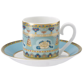 Samarkand Aquamarin Tasse moka avec soucoupe 2pcs