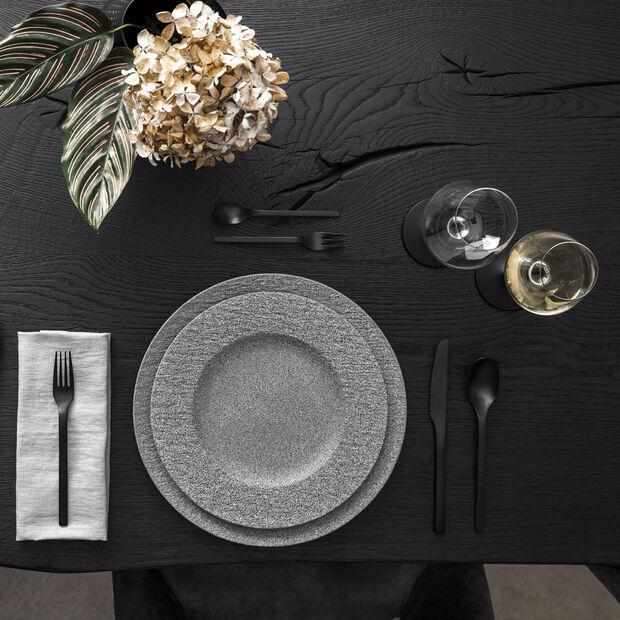 Manufacture Rock Granit assiette plate, 27cm, grise, , large