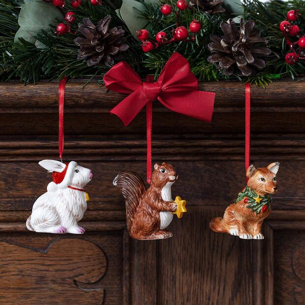 Nostalgic Ornaments ensemble d'ornements animaux de la forêt, 6x7cm, 3pièces, , large