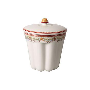 Winter Bakery Delight boîte en forme de kouglof motifs pains d'épices, rouge/multicolore, 19x19x20,5cm, 2,3l