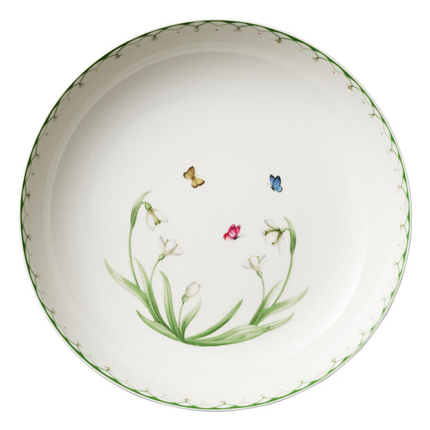 Colourful Spring grand saladier, 5,2l, blanc/vert, , large