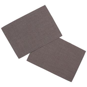 Textil Uni TREND Set de table, 2 pièces, graphite, 35x50cm