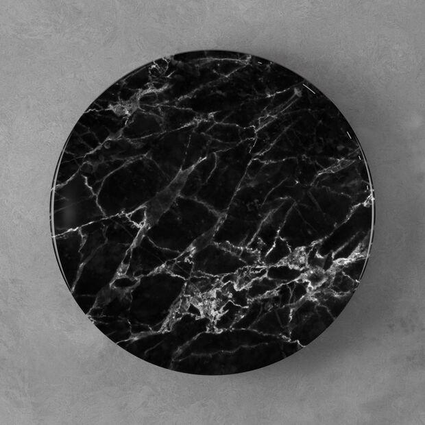 Marmory assiette plate noire, 27x27x1,5cm, , large