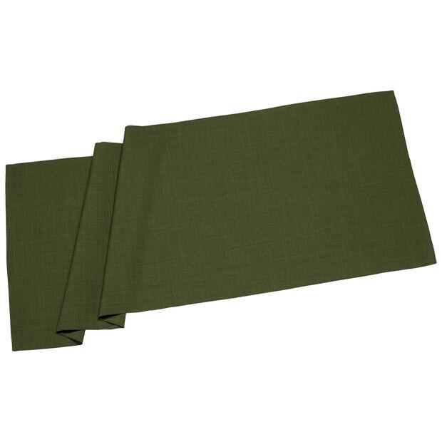 Textil Uni TREND Chemin d/table verde fon. 50x140cm, , large