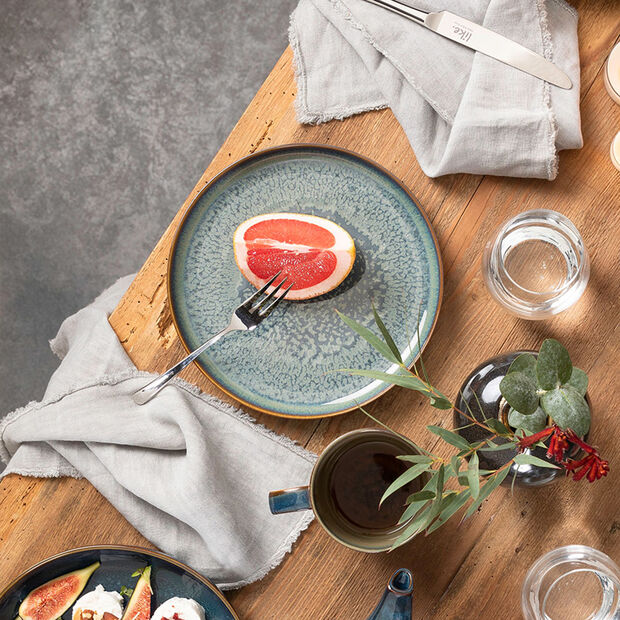 Crafted Breeze assiette plate, bleu-gris, 26cm, , large