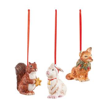 Nostalgic Ornaments ensemble d'ornements animaux de la forêt, 6x7cm, 3pièces