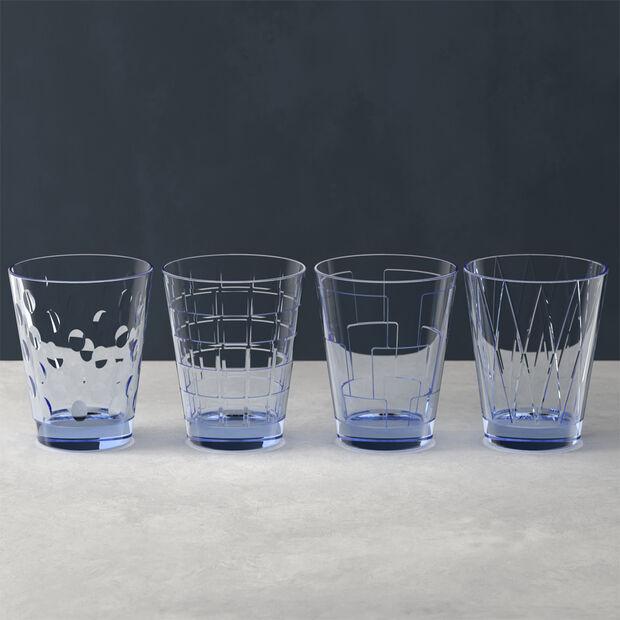 Dressed Up ensemble de verres à eau Blue, 4pièces, , large