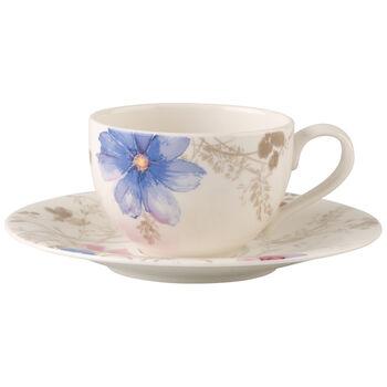 Mariefleur Gris Basic Tasse à café avec soucoupe 2pcs