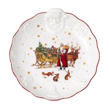 Toy's Fantasy coupe Père Noël en relief, rétro, multicolore/rouge/blanc, 24x25x4,6cm
