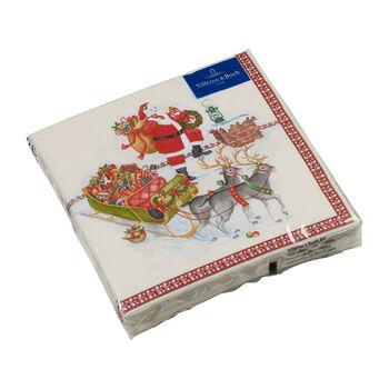 Winter Specials serviette de table Père Noël, multicolore, 20pièces, 33x33cm