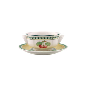 French Garden Fleurence tasses à soupe, ensemble de 2pièces