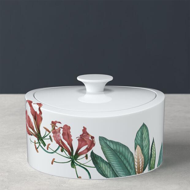 Avarua Gifts boîte en porcelaine, 800ml, blanche/multicolore, , large