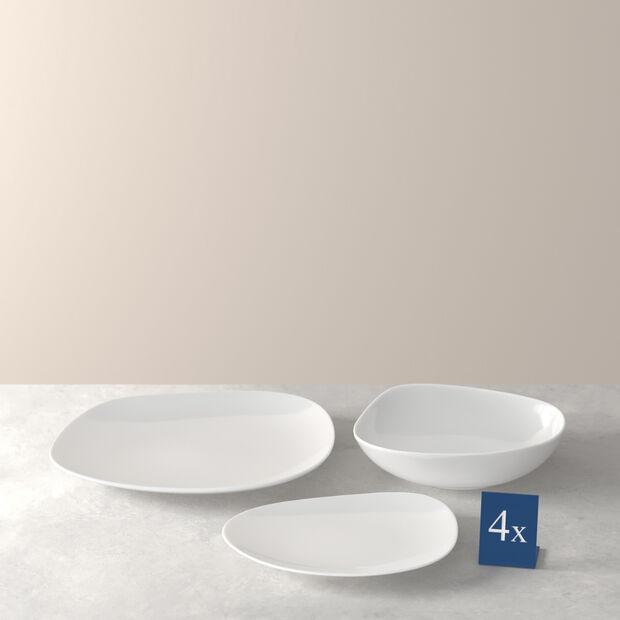 ensemble de base d'assiettes, blanc, 12pièces, , large