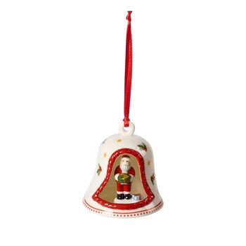 My Christmas Tree cloche avec figurine de Père Noël, multicolore, 6x6x7cm