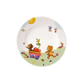 Hungry as a Bear Assiette plate pour enfants 21,5x21,5x1,5cm