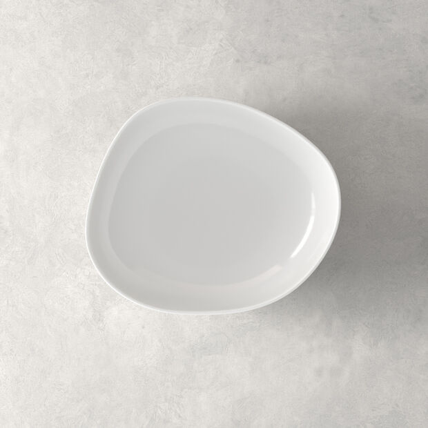 Organic White assiette creuse, blanche, 20cm, , large