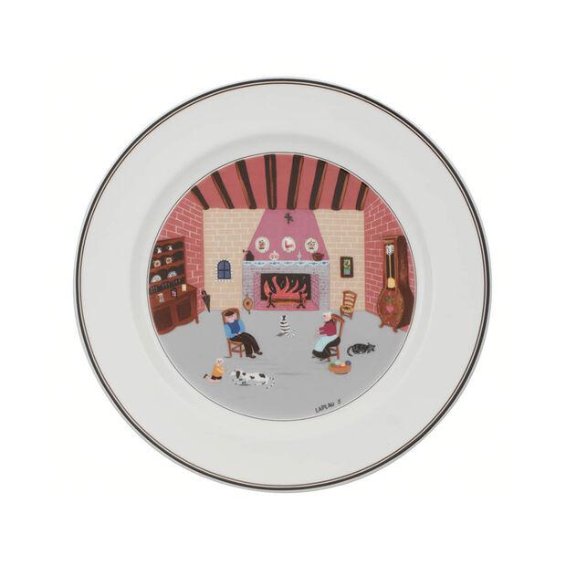 Design Naif assiette plate motif cheminée, , large