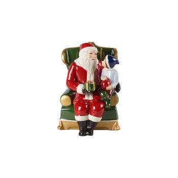 Christmas Toy's Père Noël sur son fauteuil, multicolore, 10x10x15cm