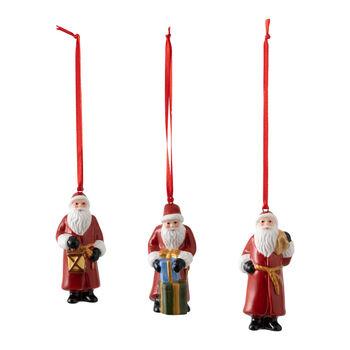 Nostalgic Ornaments ensemble d'ornements Père Noël, 8x3,5cm, 3pièces
