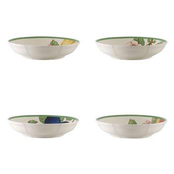 French Garden Modern Fruits ensemble de 4coupes plates