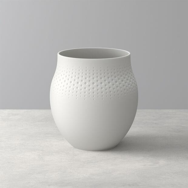 Manufacture Collier blanc Vase Perle grand 16,5x16,5x17,5cm, , large