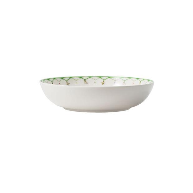 Colourful Spring assiette à salade, 720ml, blanc/vert, , large