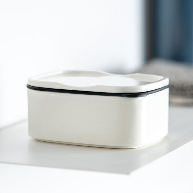 ToGo&ToStay boîte à repas, 13x10x6cm, carrée, blanche, , large