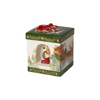 Christmas Toy's grand paquet-cadeau carré, Père Noël 16x16x20cm