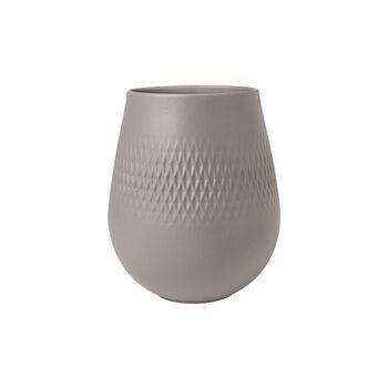 Manufacture Collier vase, 12x15cm, Carré, taupe