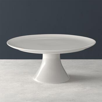For Me plat à gâteau sur pied, blanc, 30x30x13cm