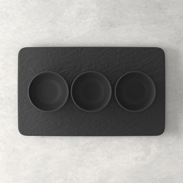 Manufacture Rock ensemble de coupelles à dips, noires/grises, 8x8x4cm, 4pièces, , large