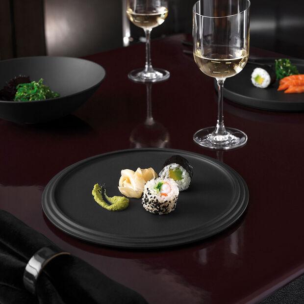 Iconic assiette à servir, noire, 24x1cm, , large