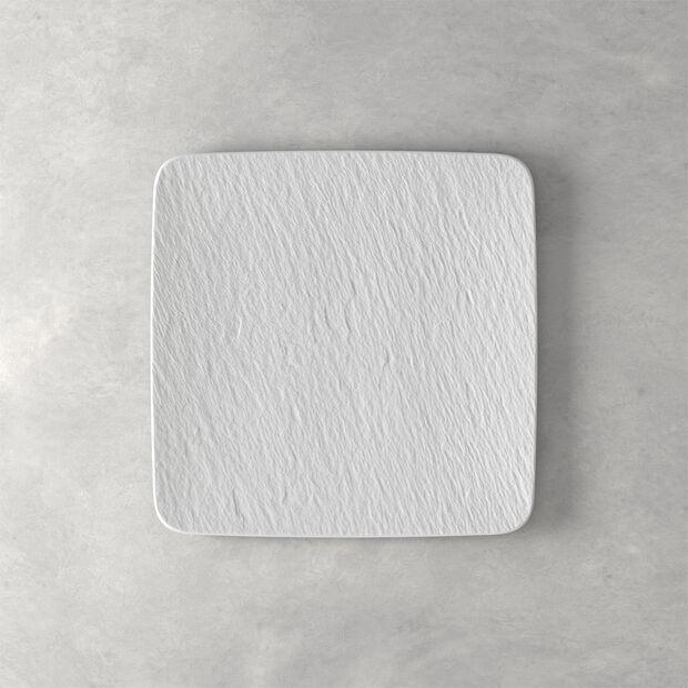 Manufacture Rock Blanc plat à servir/assiette gourmet carré(e), blanc(he), 32,5x32,5x1,5cm, , large