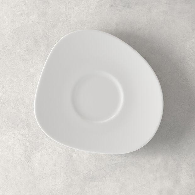 Organic White sous-tasse à café, blanche, 17,5cm, , large