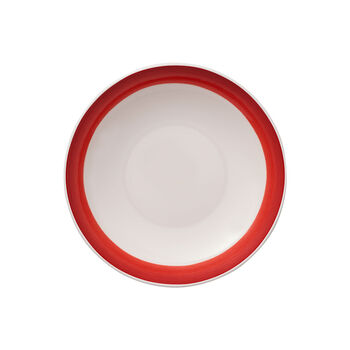 Colourful Life Deep Red coupe plate