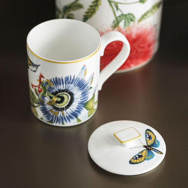 Amazonia Gifts Mug avec couvercle 11,5x8,5x11cm, , large