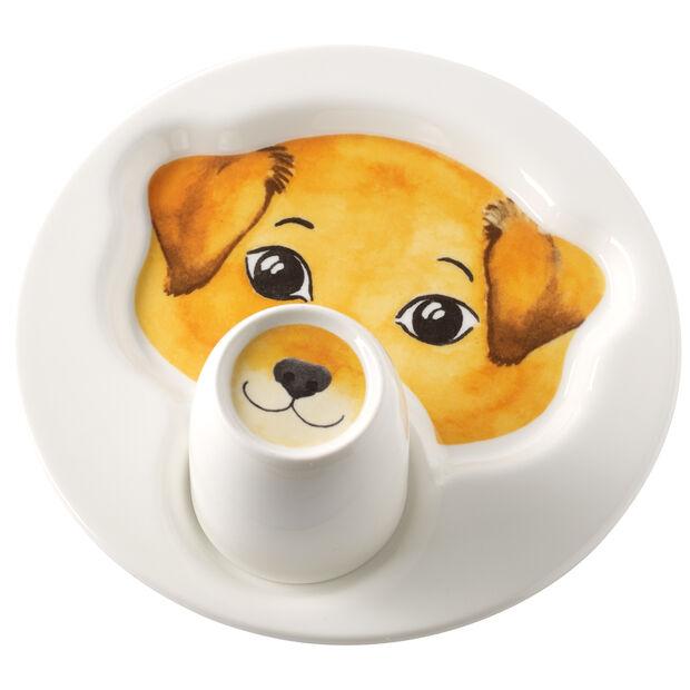 Assiette avec mug Animal Friends, chien, , large
