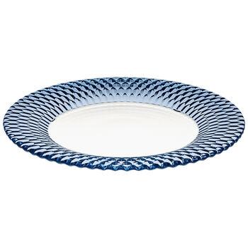 Boston Coloured assiette de présentation, bleu, 32cm