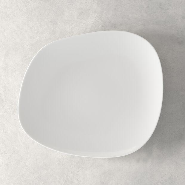 Organic White assiette plate 28x24x3cm, , large