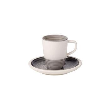 Manufacture gris Tasse moka avec soucoupe 2pcs
