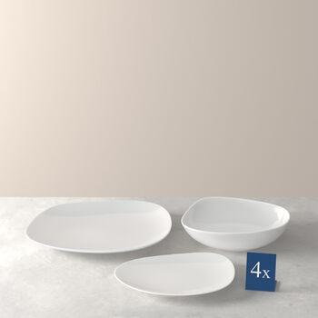 ensemble de base d'assiettes, blanc, 12pièces