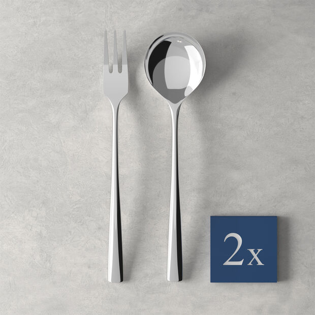 Daily Line Specials Co.à spagh. 4 pcs 2Cuillères&2fourchette 265x85x30mm, , large