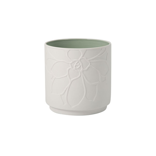 it's my home pot de fleurs Socculent, vert/blanc, , large