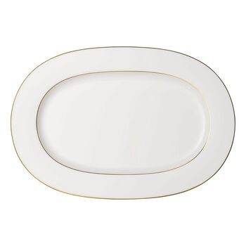 Anmut Gold plat ovale, longueur 41 cm, blanc/or