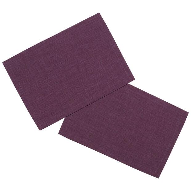 Textil Uni TREND Set de table violet S2 35x50cm, , large